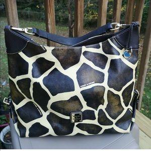 Dooney and bourke giraffe print hobo bag